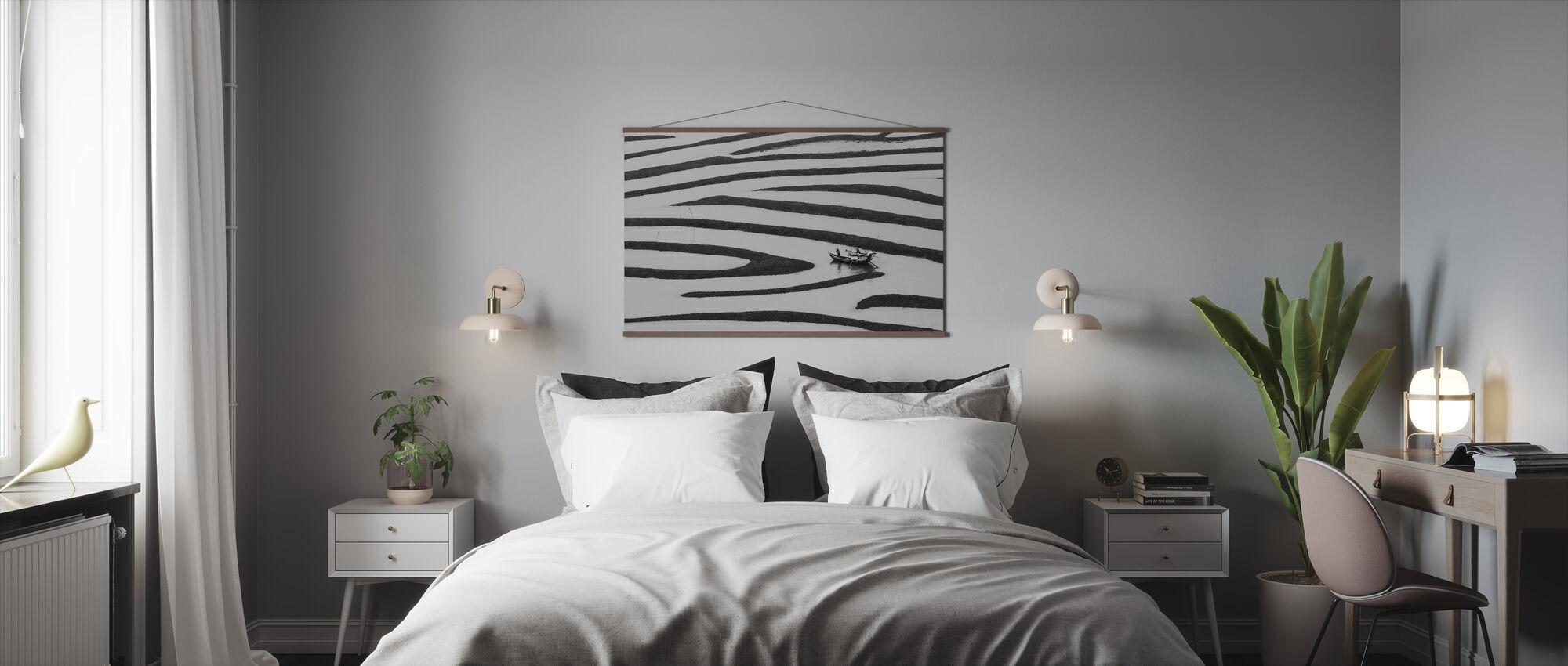 Yksinkertaisen elämän kauneus, mustavalkoinen - Juliste - Makuuhuone