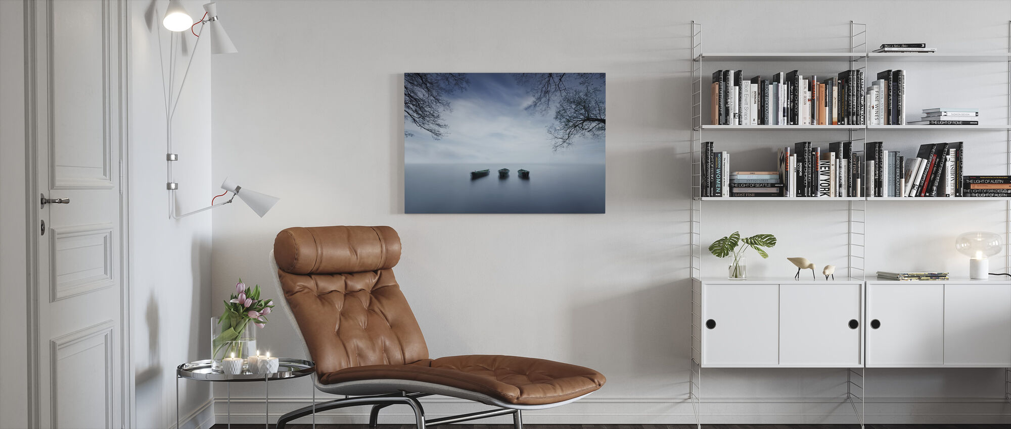 Time is a Wave - Canvas print - Living Room