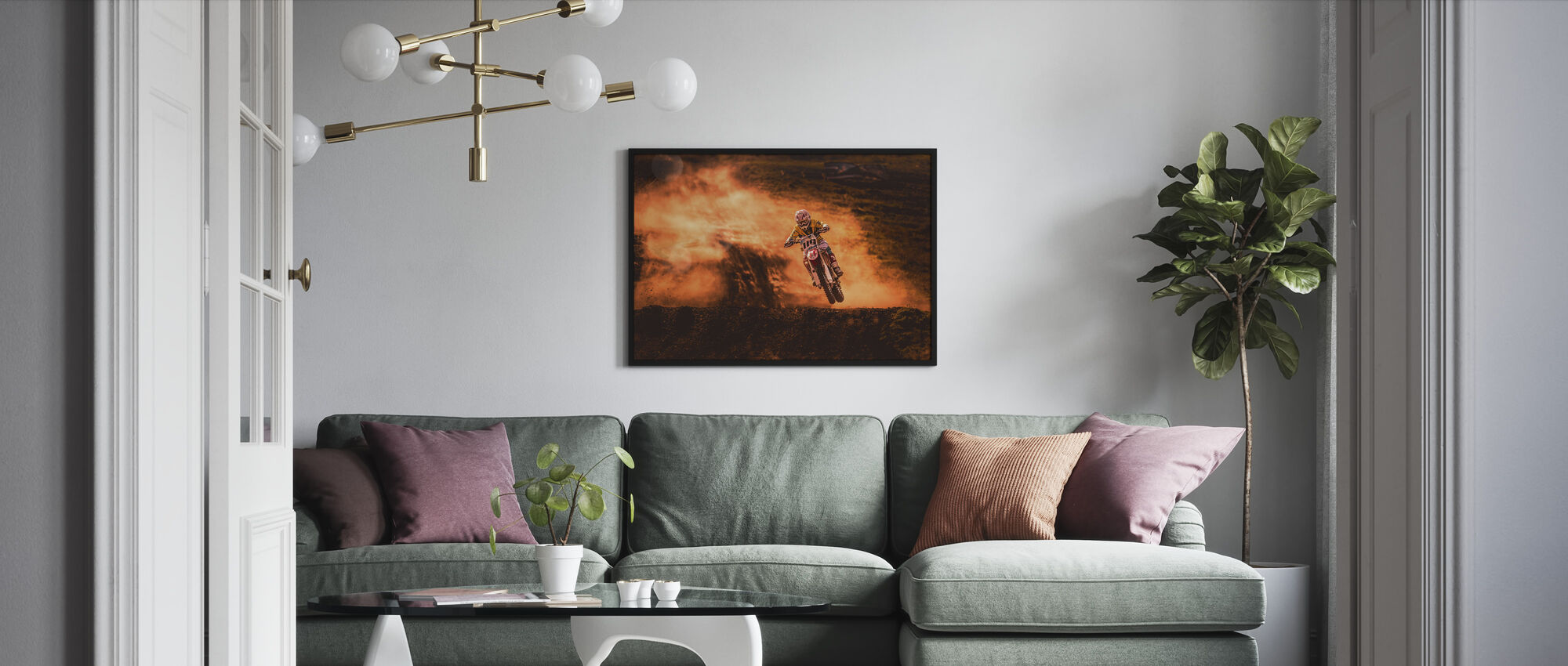 Above - Framed print - Living Room