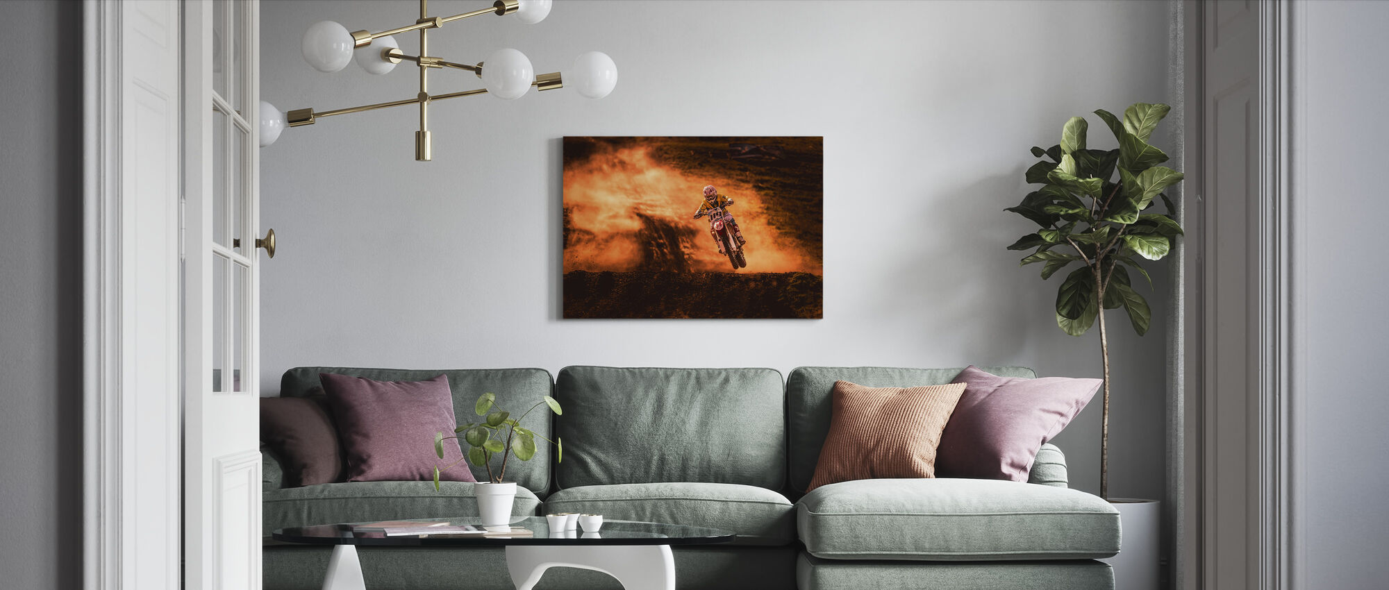 Above - Canvas print - Living Room