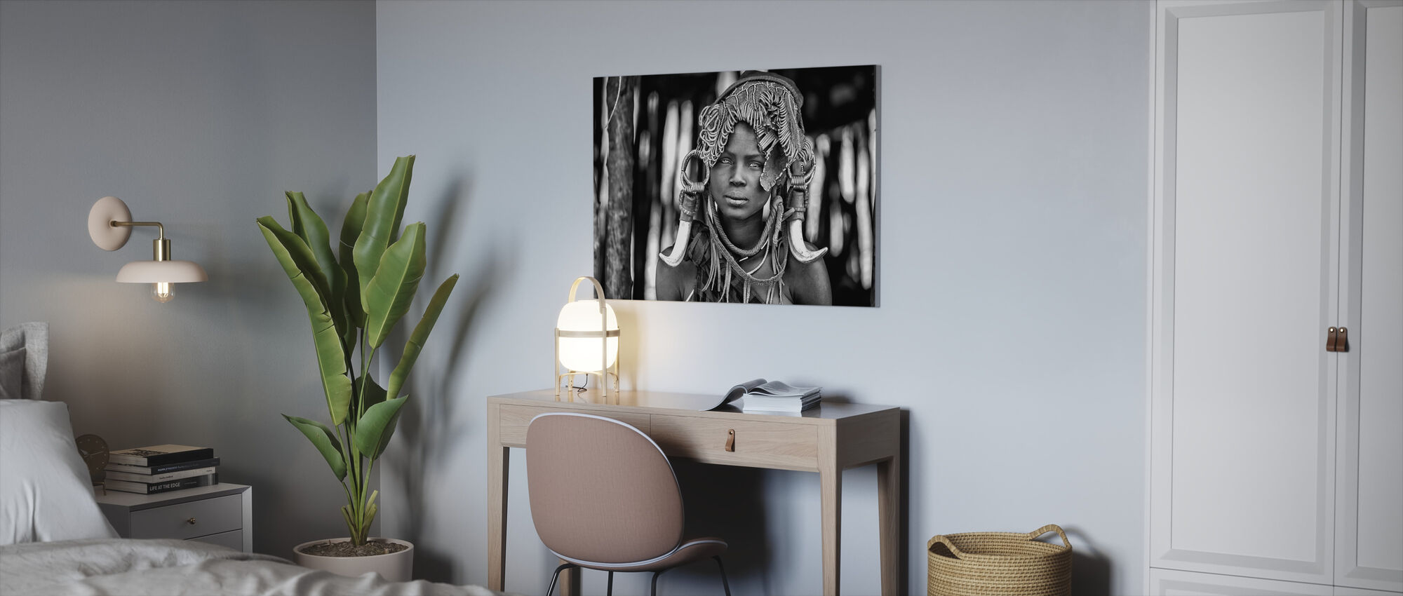 Mursi, black and white - Canvas print - Office