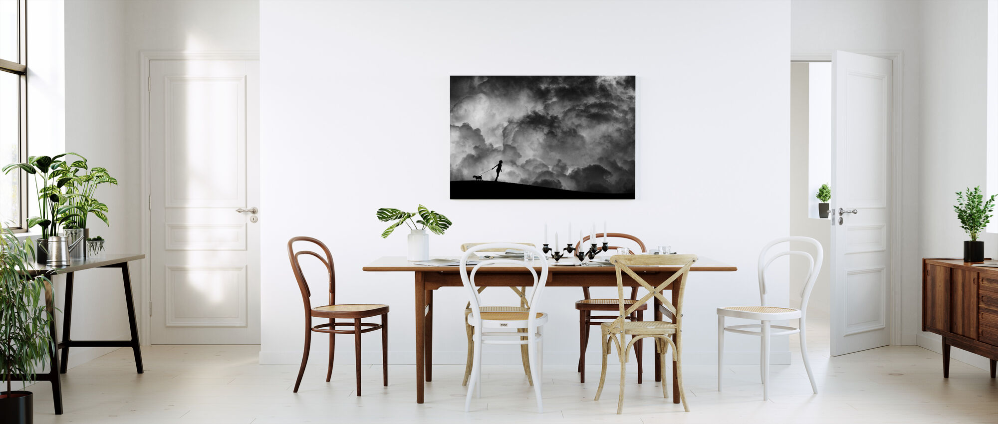 Prelude to the Dream, black and white - Canvas print - Kitchen
