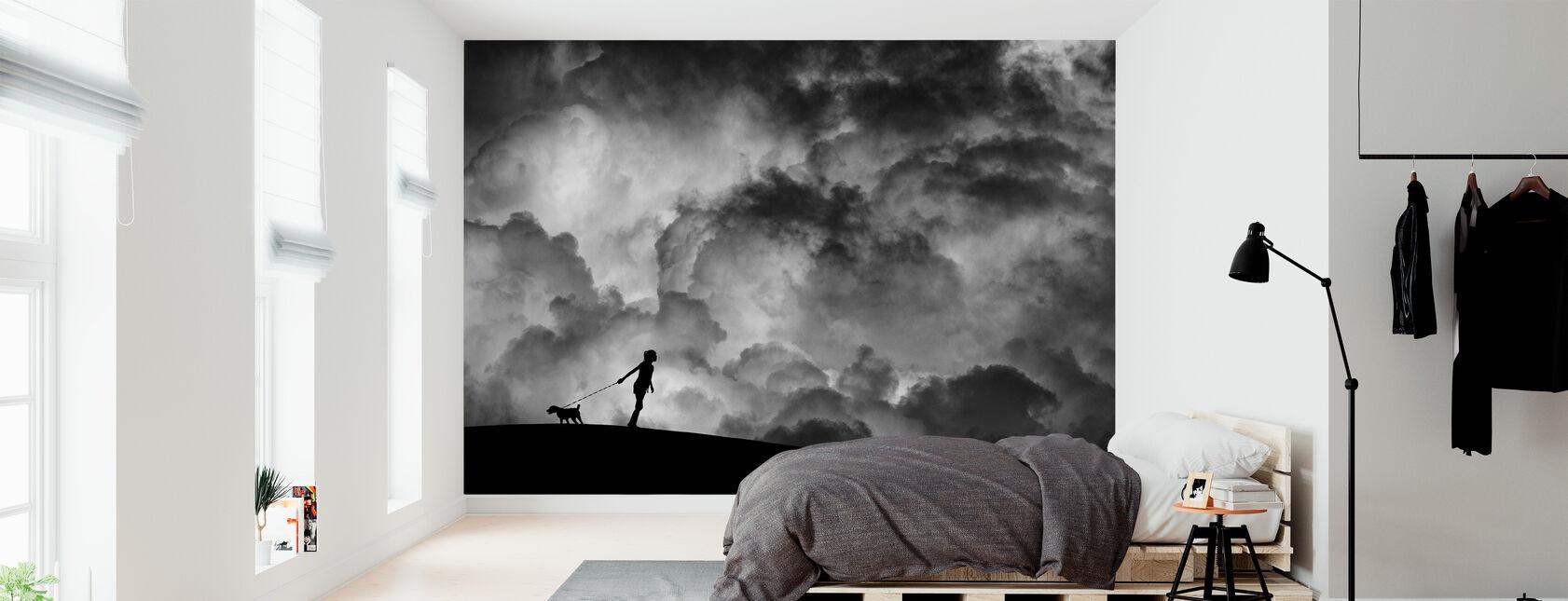 Forspil til drømmen, sort og hvid - Tapet - Soveværelse