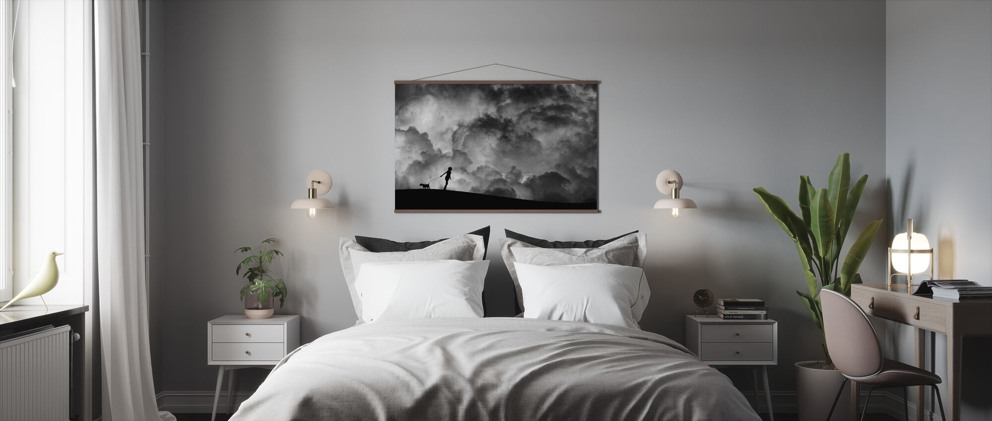 Prelude to the Dream, black and white - Poster - Bedroom