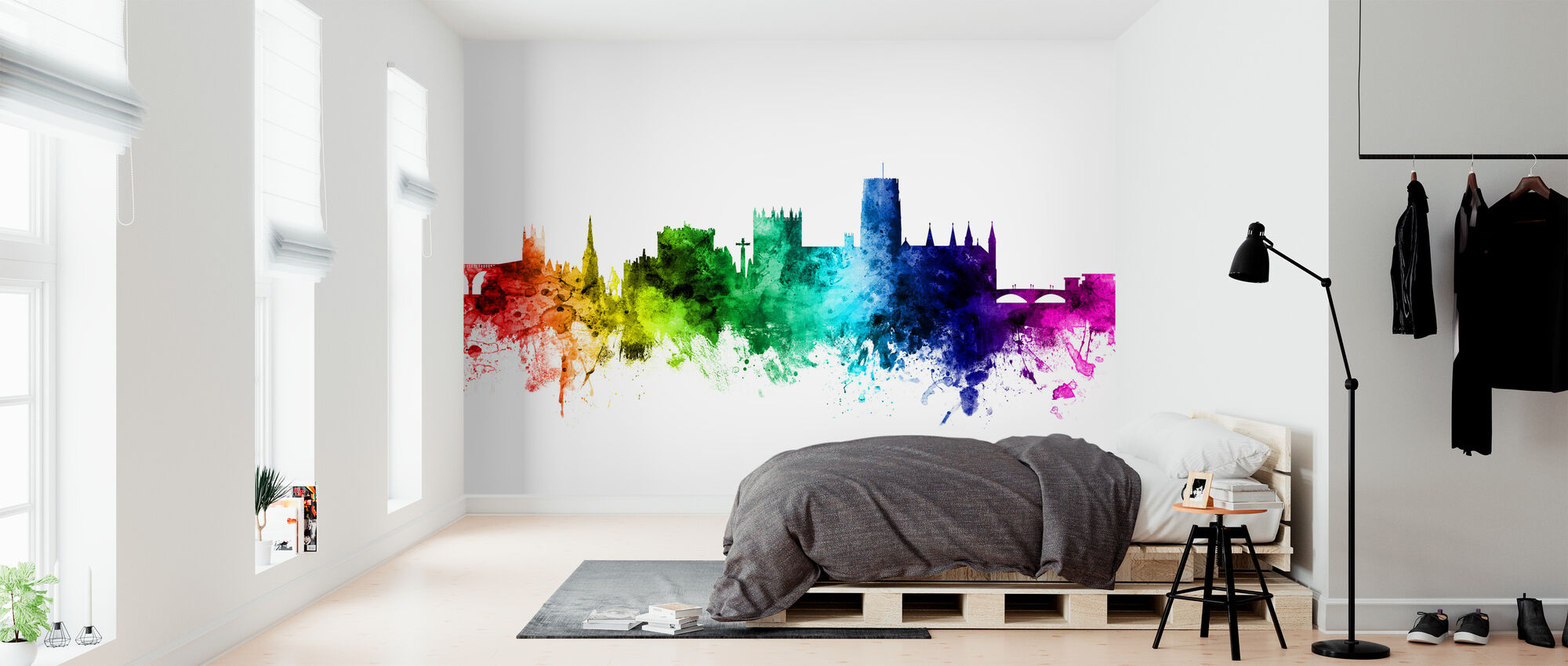 Durham Skyline Rainbow - Wallpaper - Bedroom