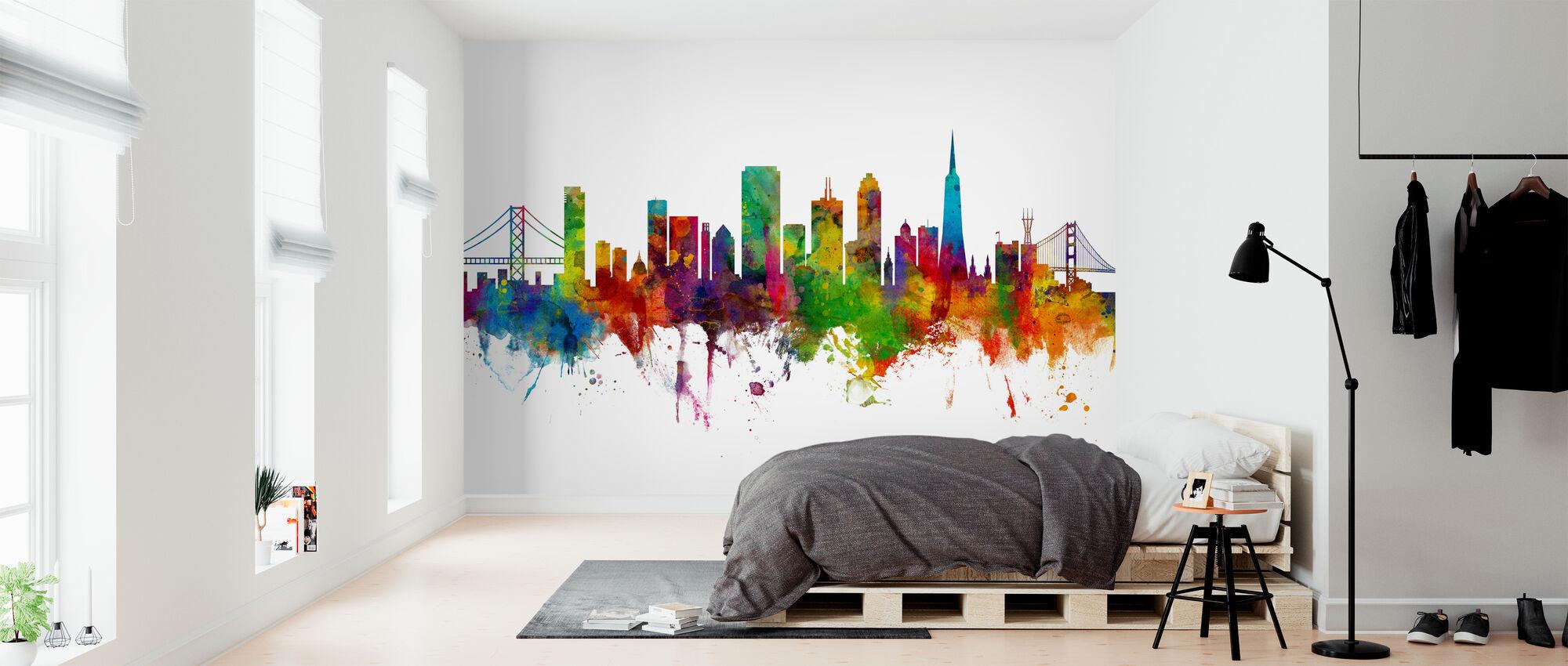 San Francisco City Skyline - Wallpaper - Bedroom