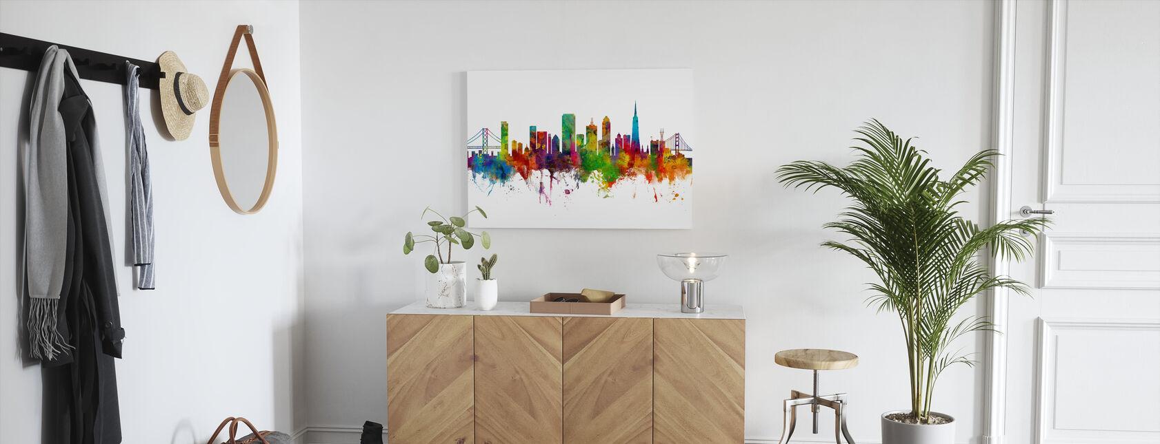 San Francisco City Skyline - Lerretsbilde - Gang
