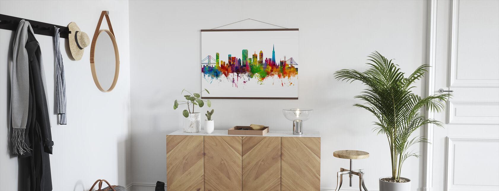 San Francisco City Skyline - Poster - Hallway