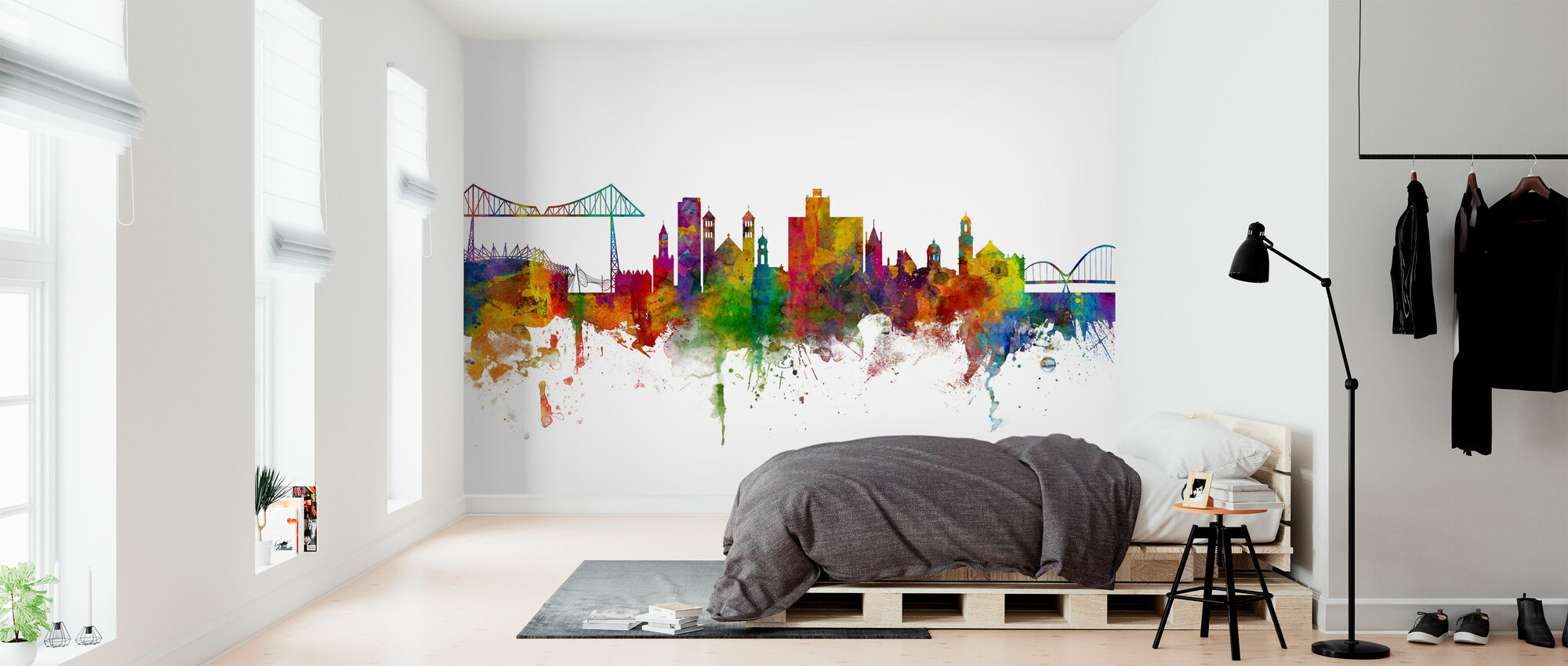 Middlesbrough Skyline - Wallpaper - Bedroom