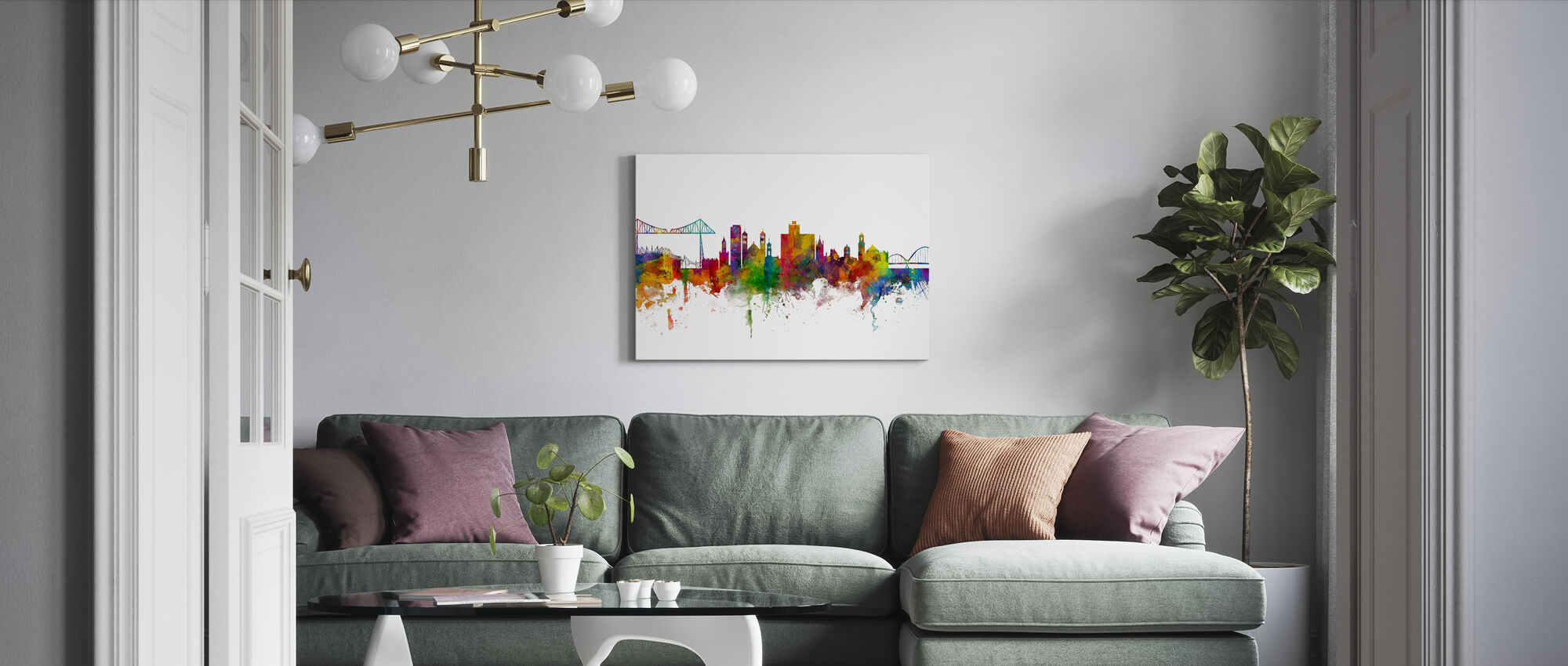 Middlesbrough Skyline - Canvas print - Living Room