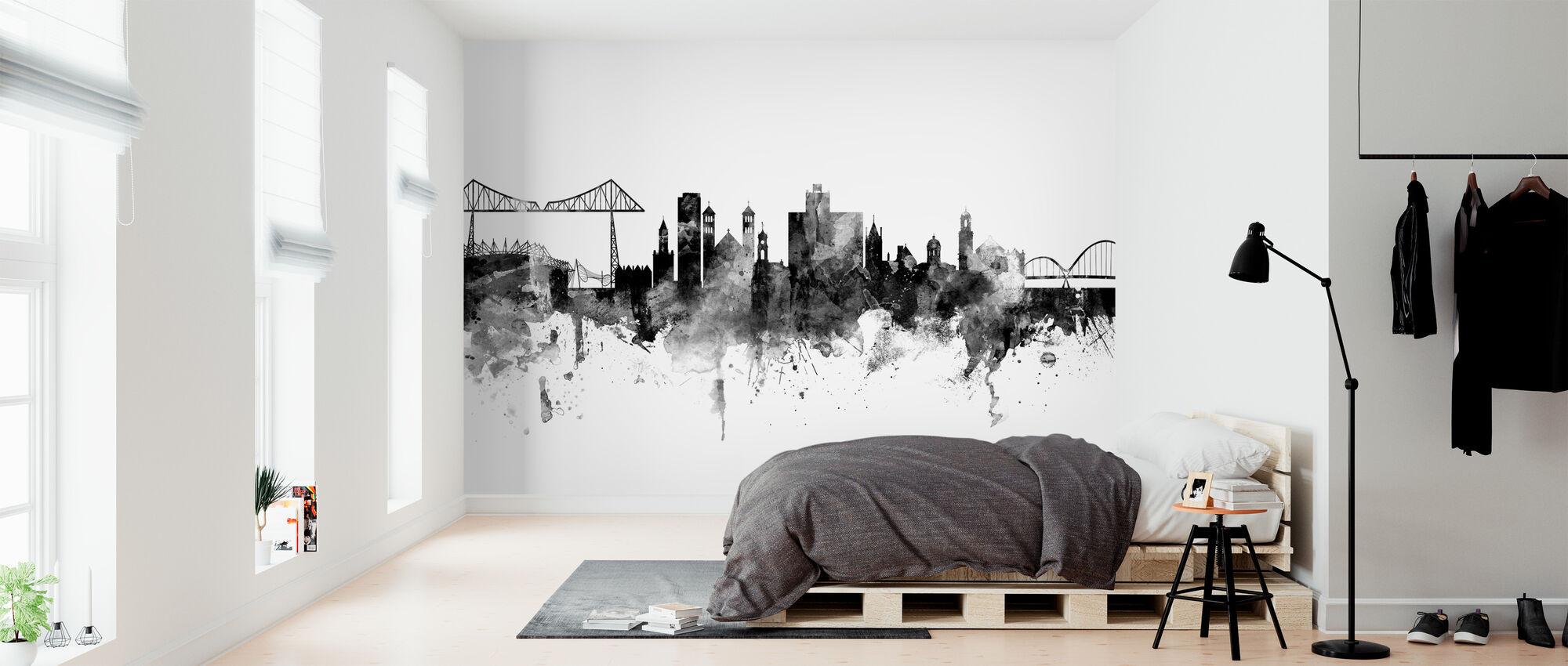 Middlesbrough Skyline, black and white - Wallpaper - Bedroom