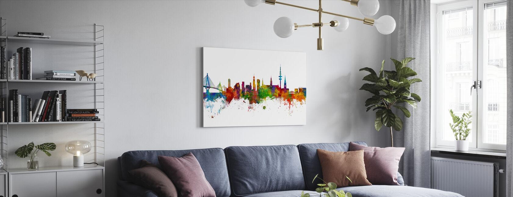 Hamburg Skyline - Leinwandbild - Wohnzimmer