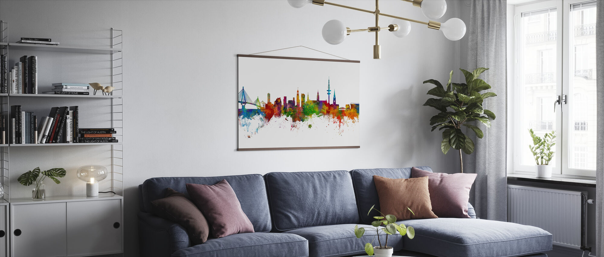 Hamburg Skyline - Poster - Living Room