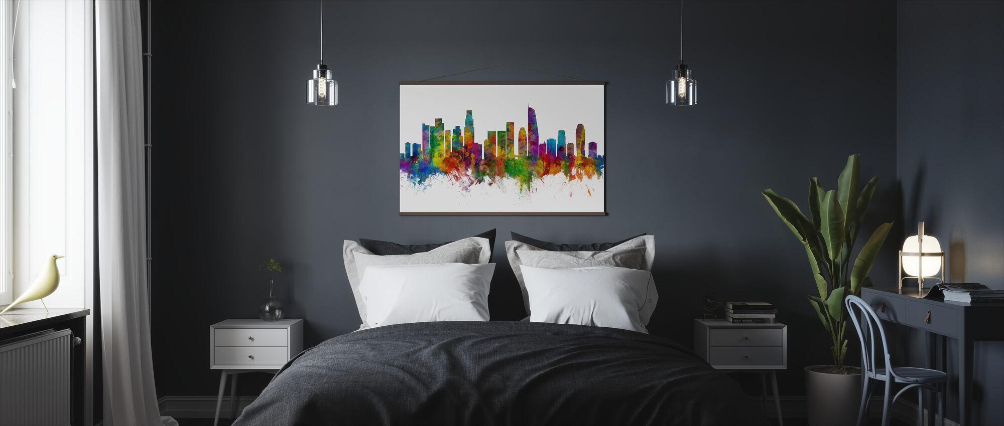 Los Angeles California Skyline - Poster - Bedroom