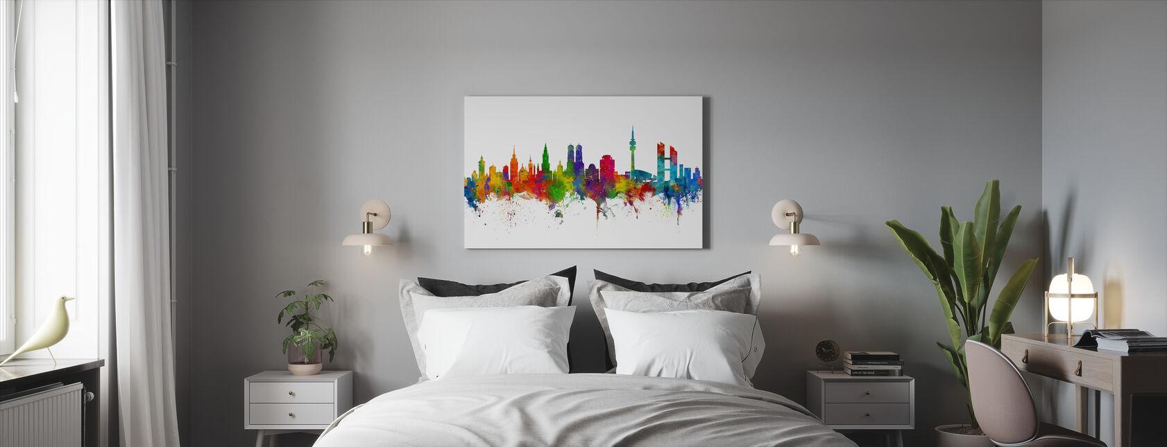Skyline van München - Canvas print - Slaapkamer