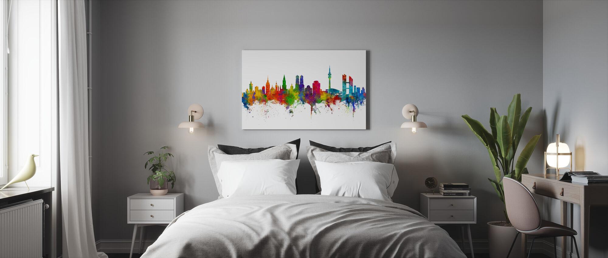 Munich Skyline - Canvas print - Bedroom