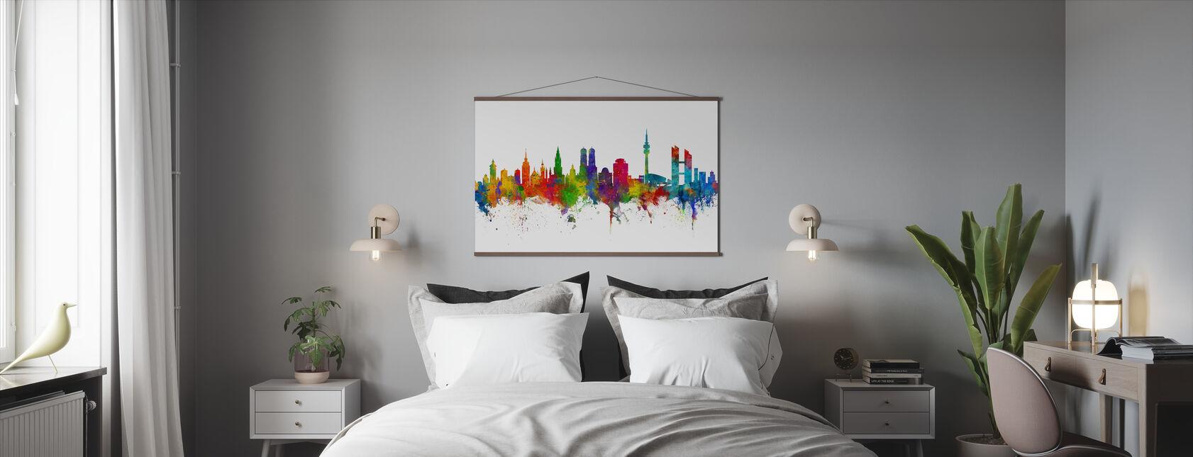 Munich Skyline - Poster - Bedroom