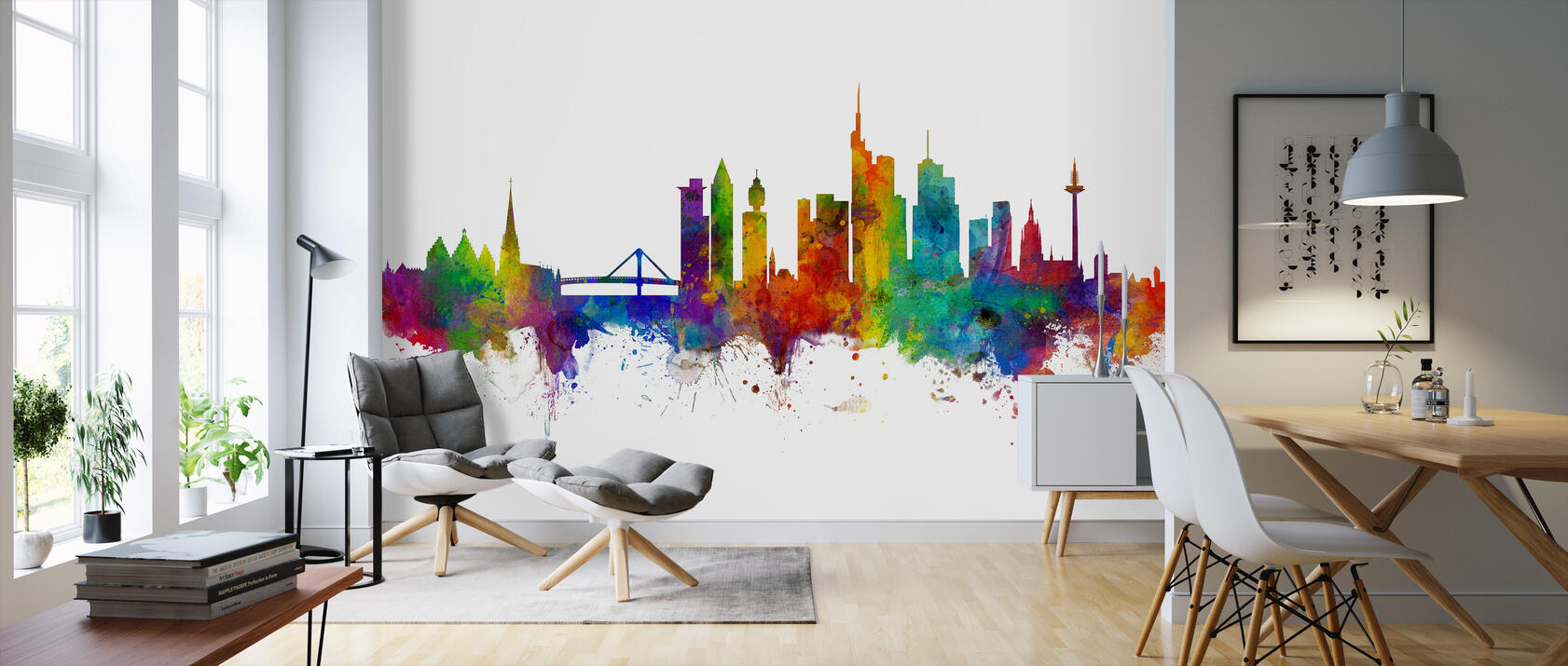 frankfurt skyline beliebte fototapete photowall. Black Bedroom Furniture Sets. Home Design Ideas