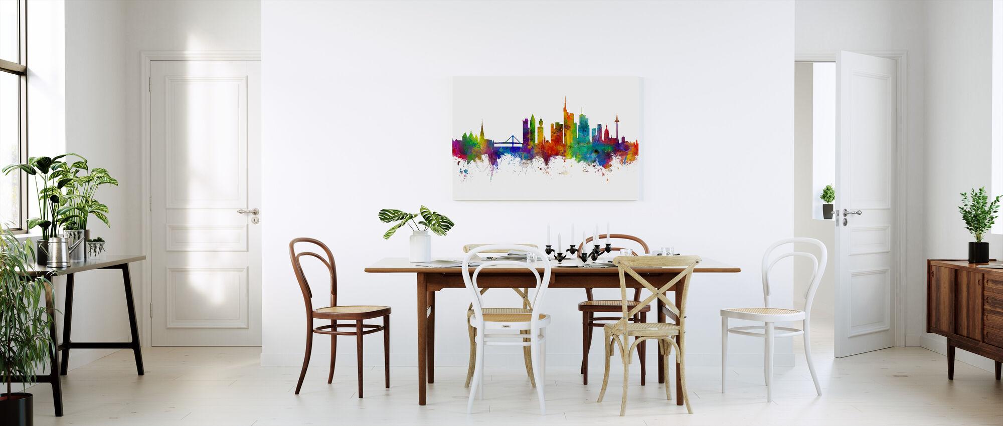 Frankfurt Skyline - Billede på lærred - Køkken