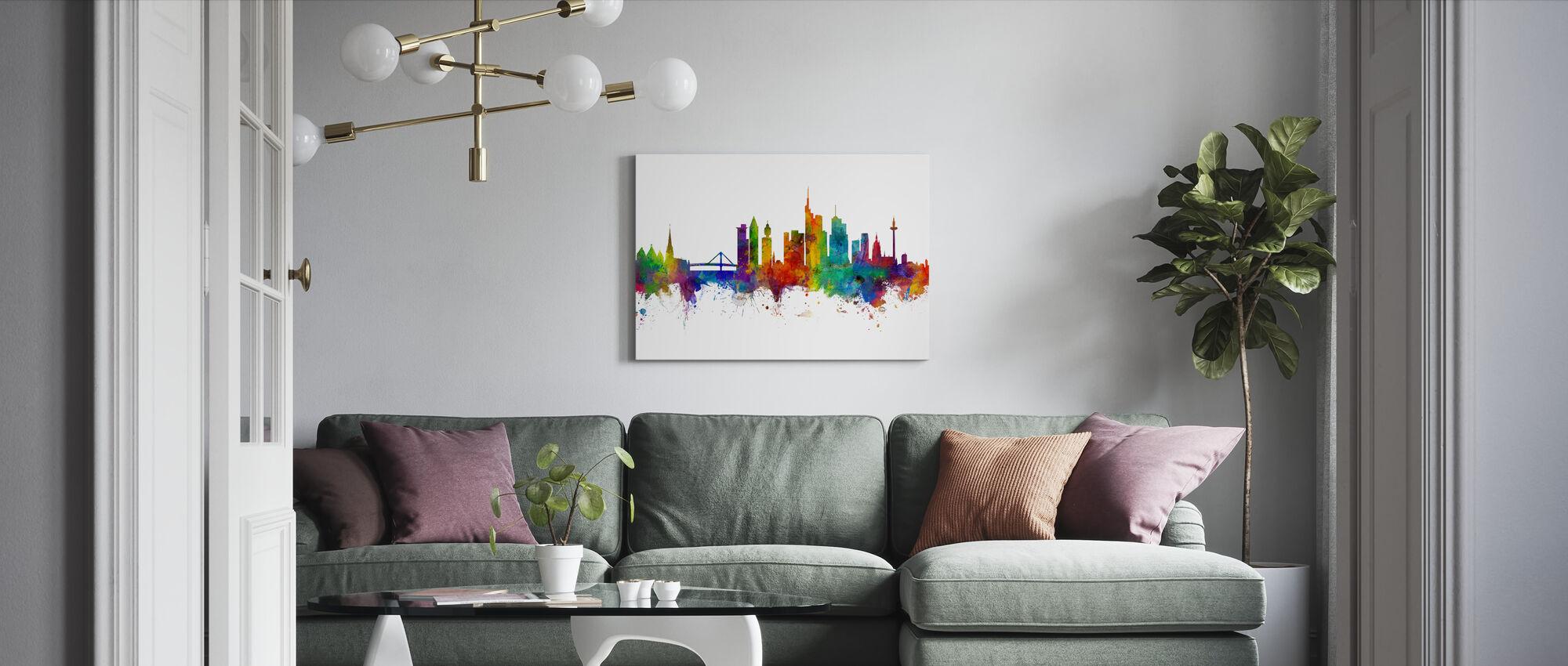 Frankfurt Skyline - Canvas print - Living Room