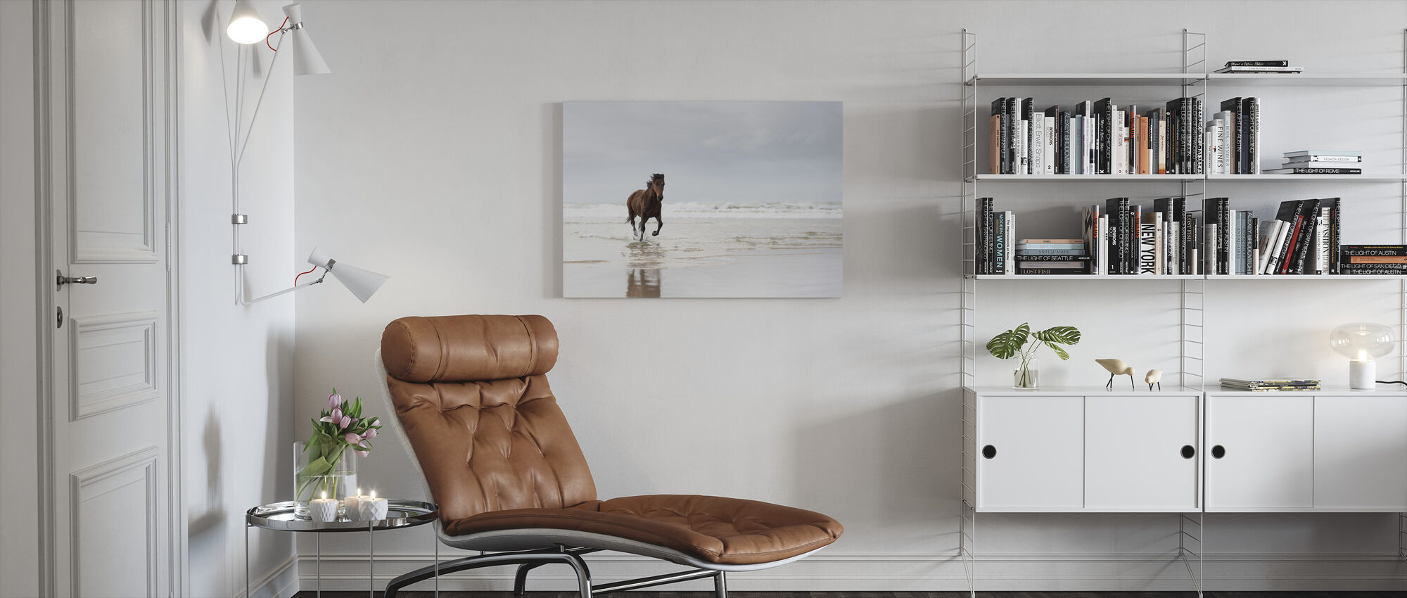 Galloping on the Beach - Canvas print - Living Room
