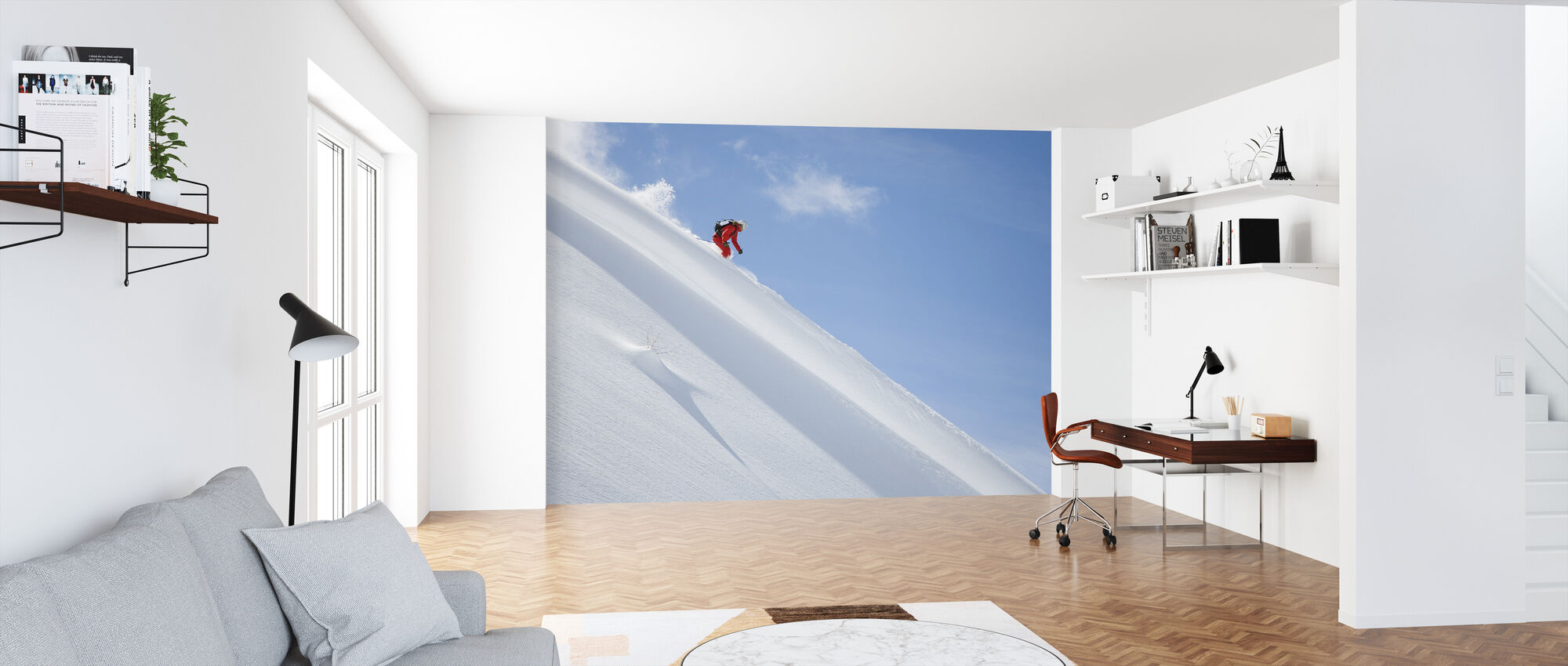 Off Piste Skiing - Wallpaper - Office