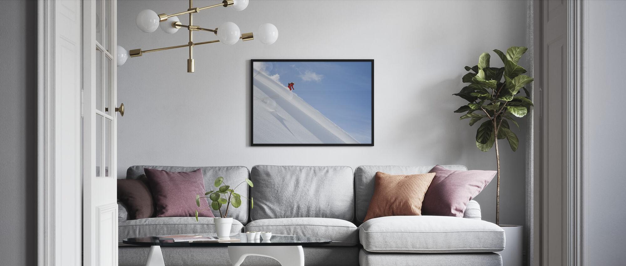 Off Piste Skiing - Framed print - Living Room
