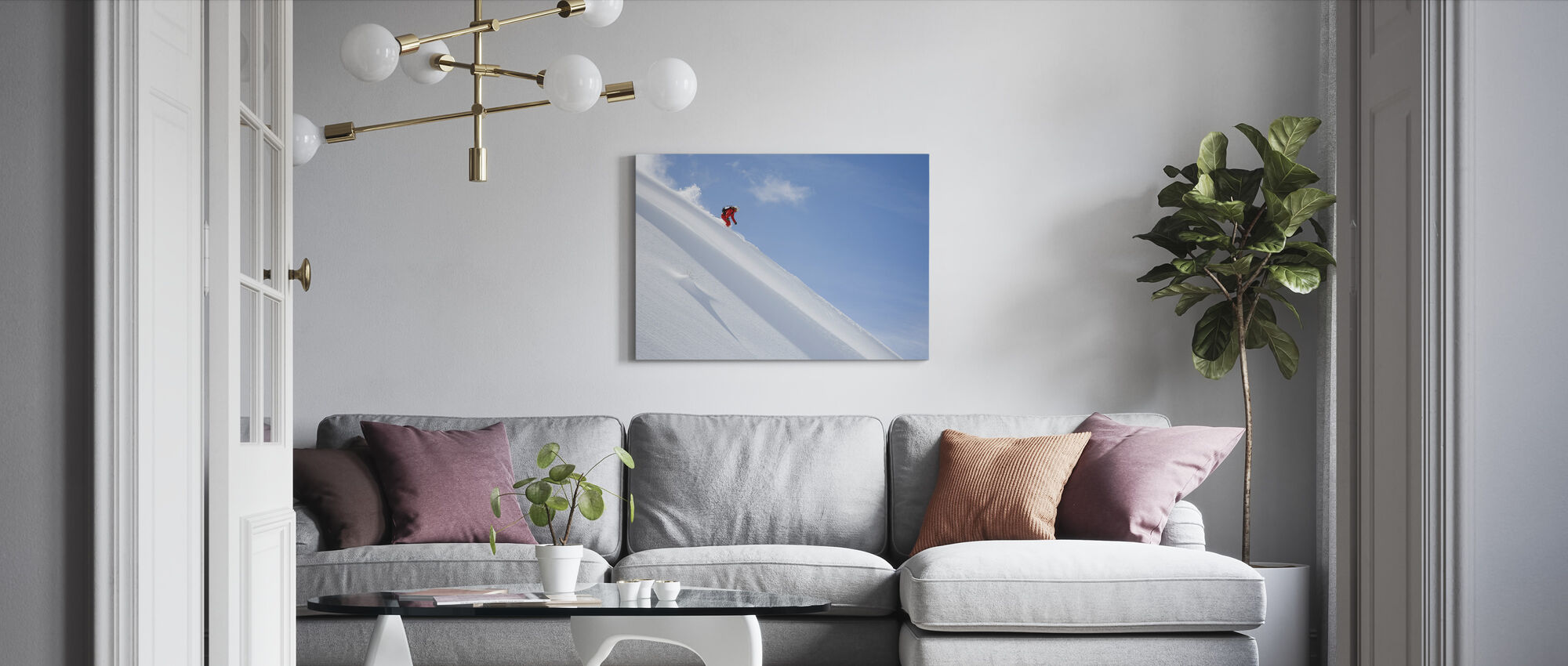 Off Piste Skiing - Canvas print - Living Room