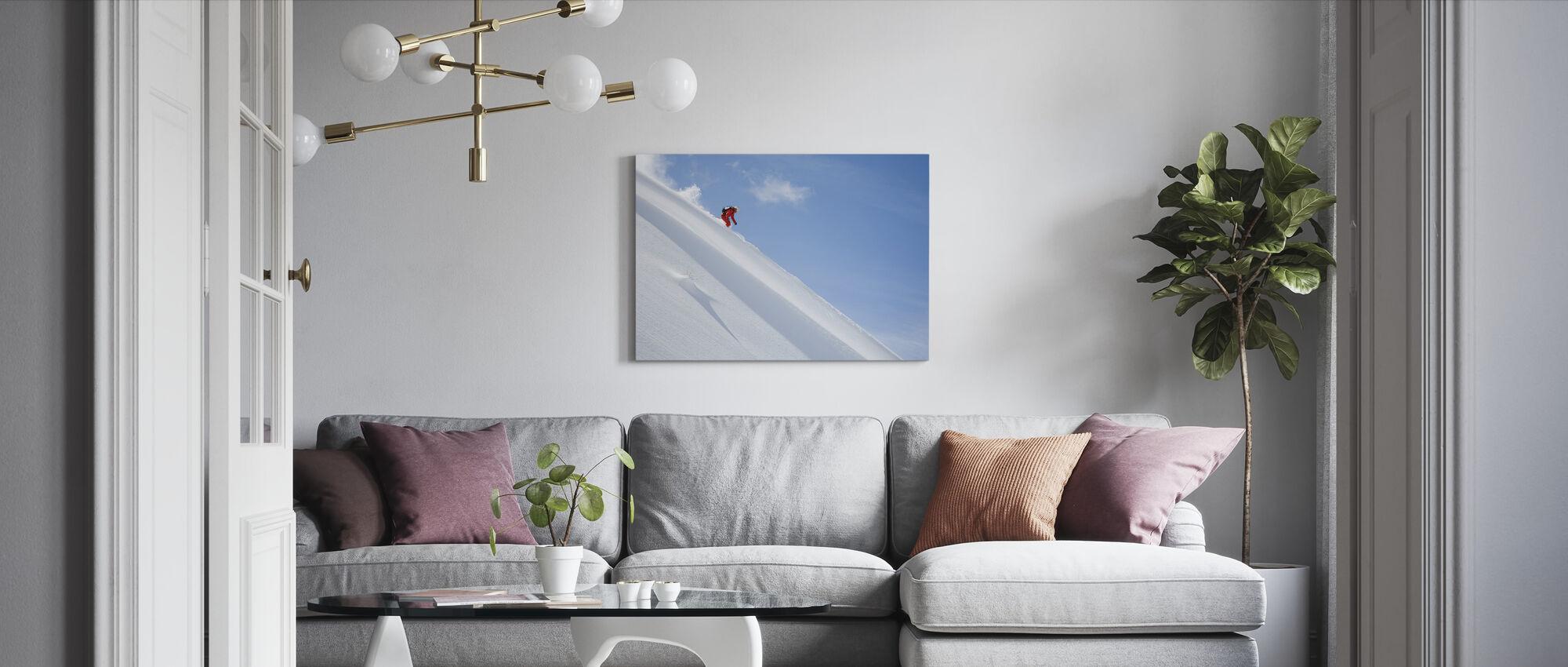 Skiën buiten de piste - Canvas print - Woonkamer