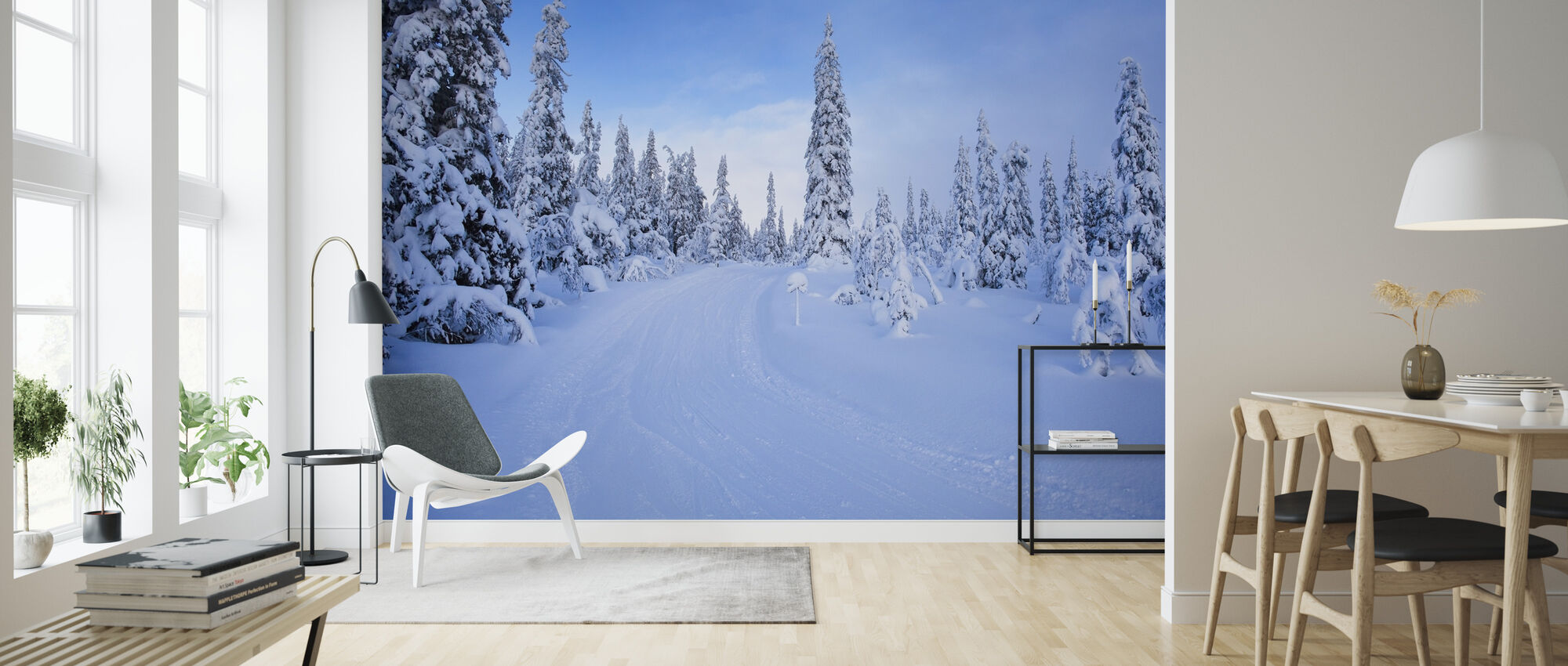 Ski track in Dalarna, Sweden - Wallpaper - Living Room
