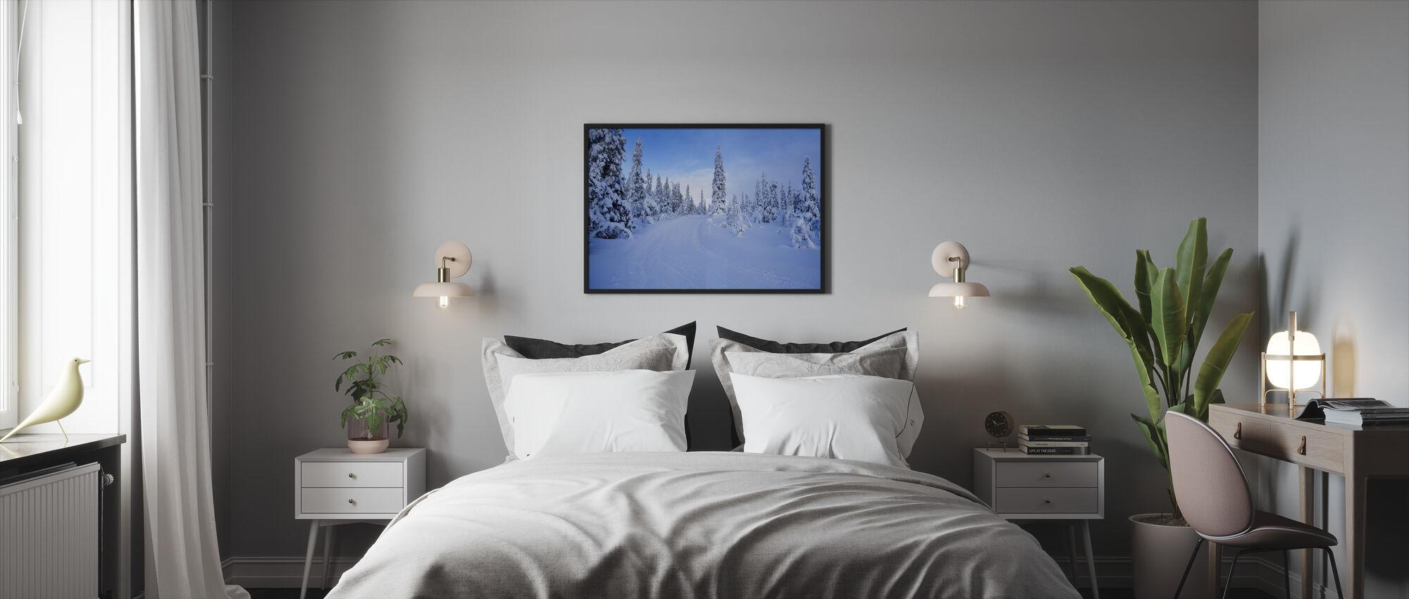 Ski track in Dalarna, Sweden - Framed print - Bedroom