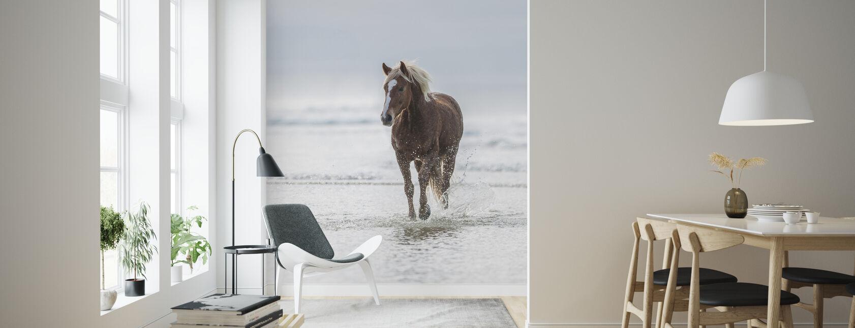 Spaziergang am Strand - Tapete - Wohnzimmer