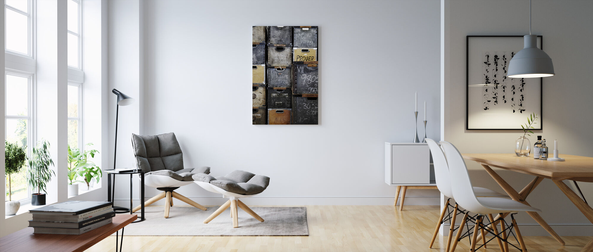Warehouse Boxes - Canvas print - Living Room