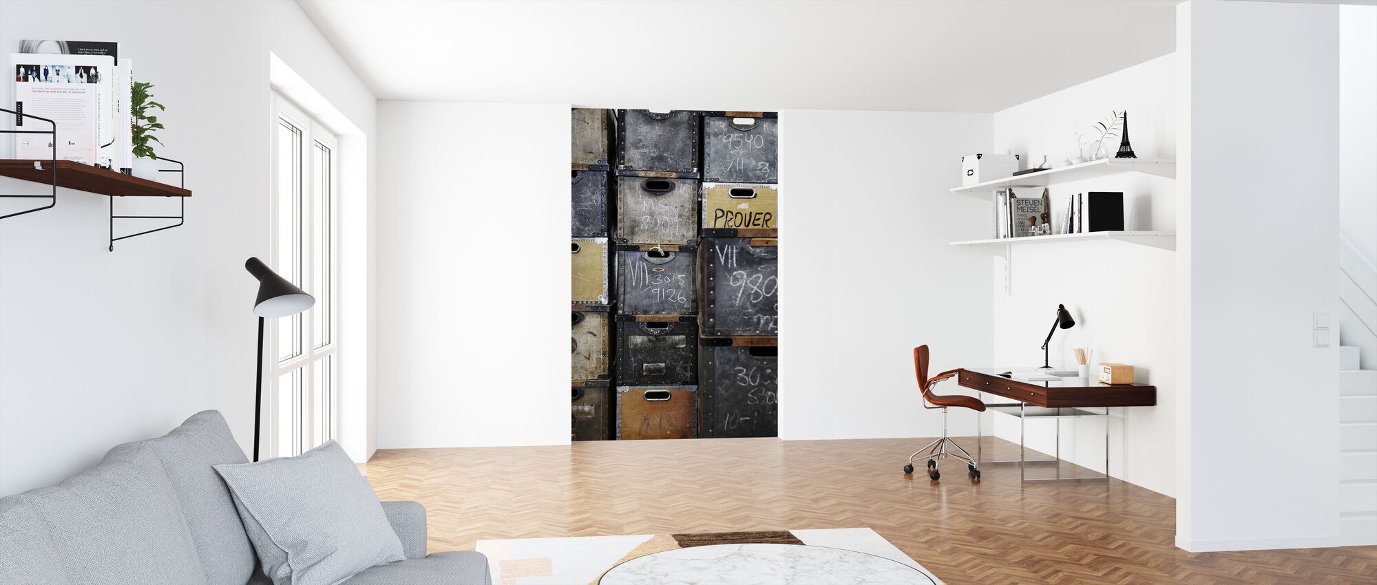 Warehouse Boxes - Wallpaper - Office