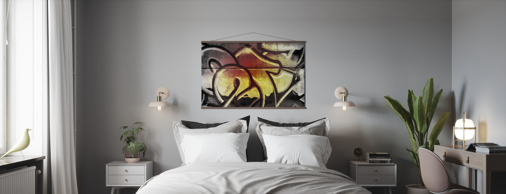 Golden Graffiti - Poster - Bedroom