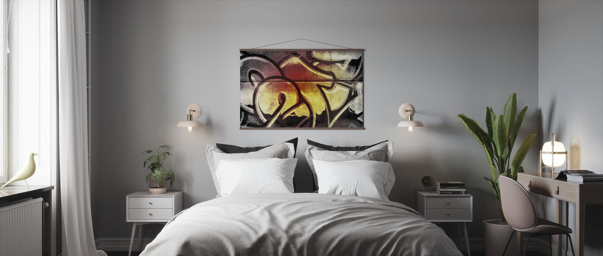 Gouden Graffiti - Poster - Slaapkamer