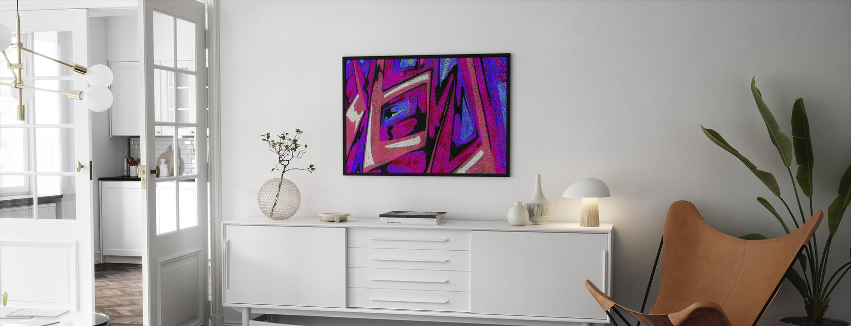 Graffiti Shape - Framed print - Living Room