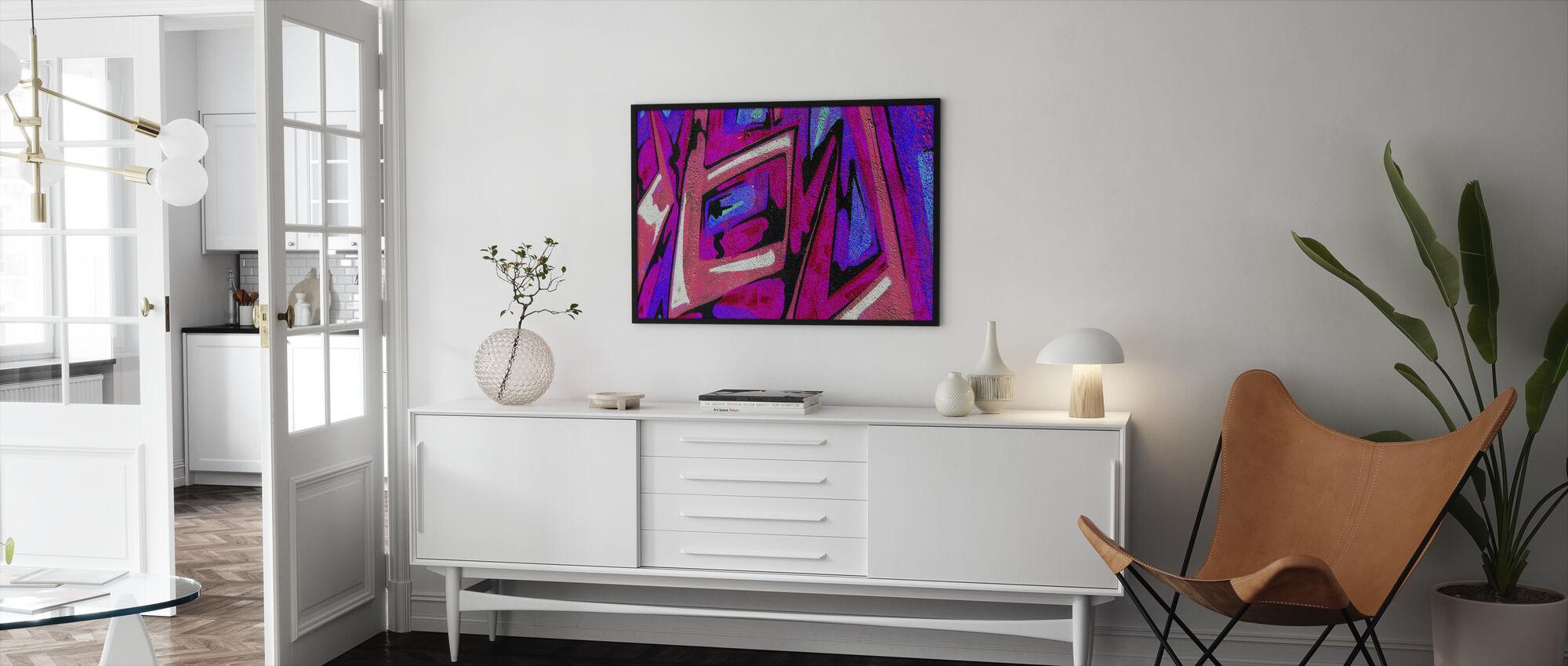 Graffiti Shape - Framed print - Living Room
