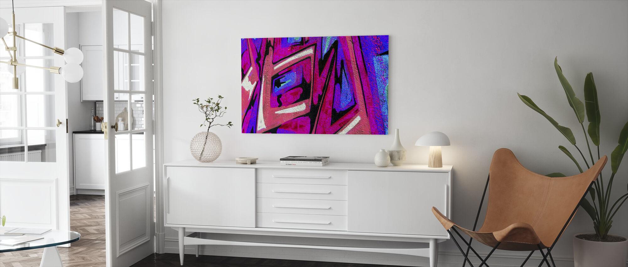 Graffiti Shape - Canvas print - Living Room