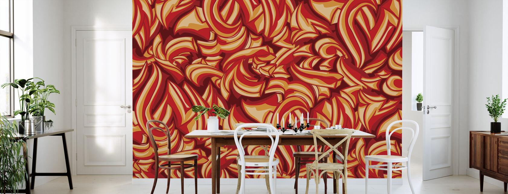 Splat Graffiti - Behang - Keuken