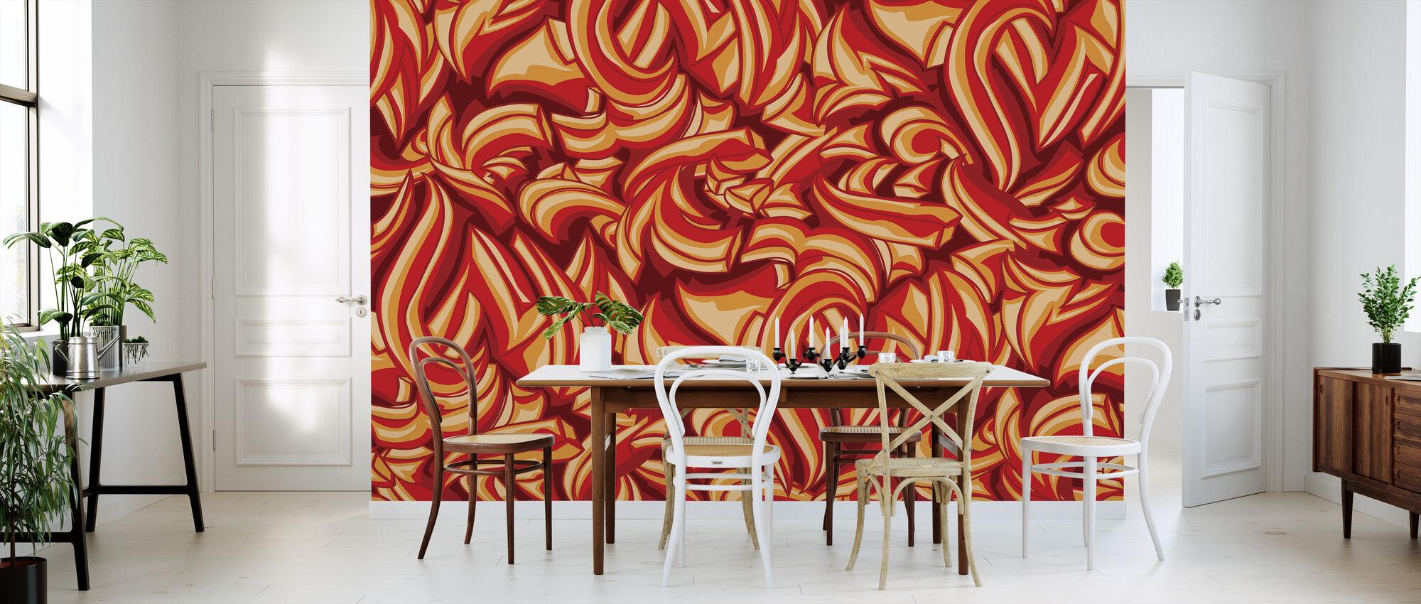Sketchy Splat Graffiti - Wallpaper - Kitchen