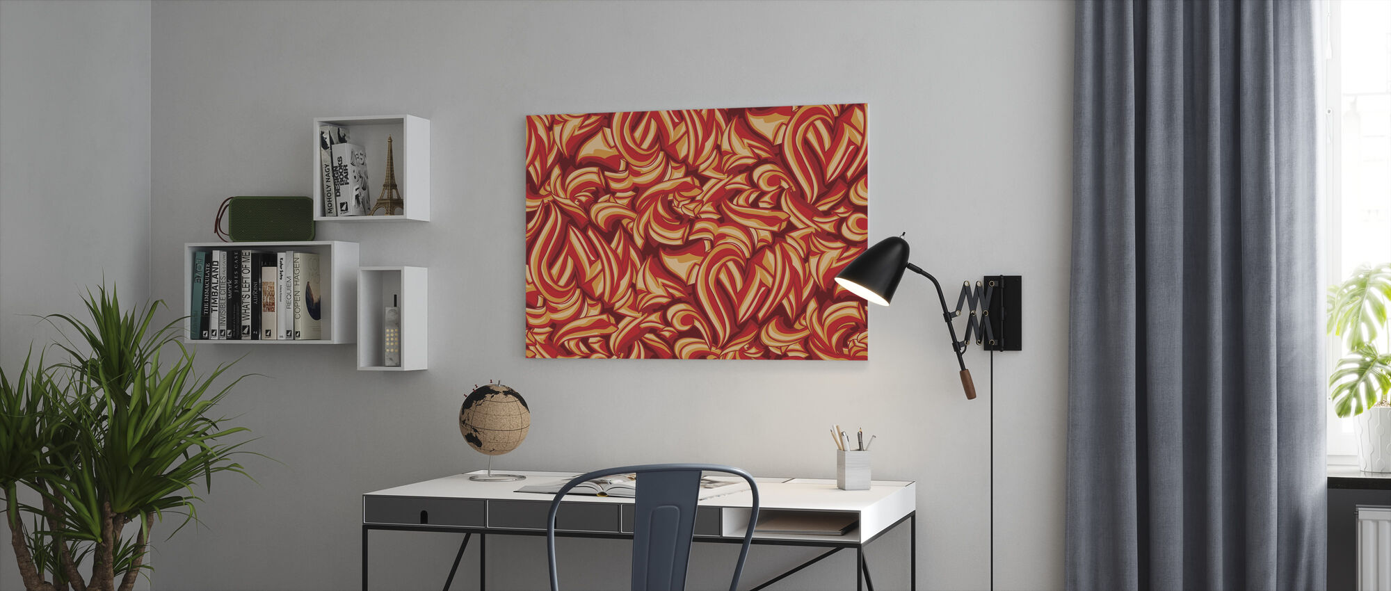 Sketchy Splat Graffiti - Canvas print - Office