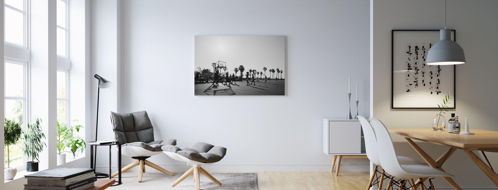 Basketball i gaderne i Los Angeles, Californien - Billede på lærred - Stue