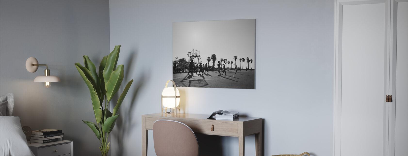 Basketbal in de straten van Los Angeles, Californië - Canvas print - Kantoor