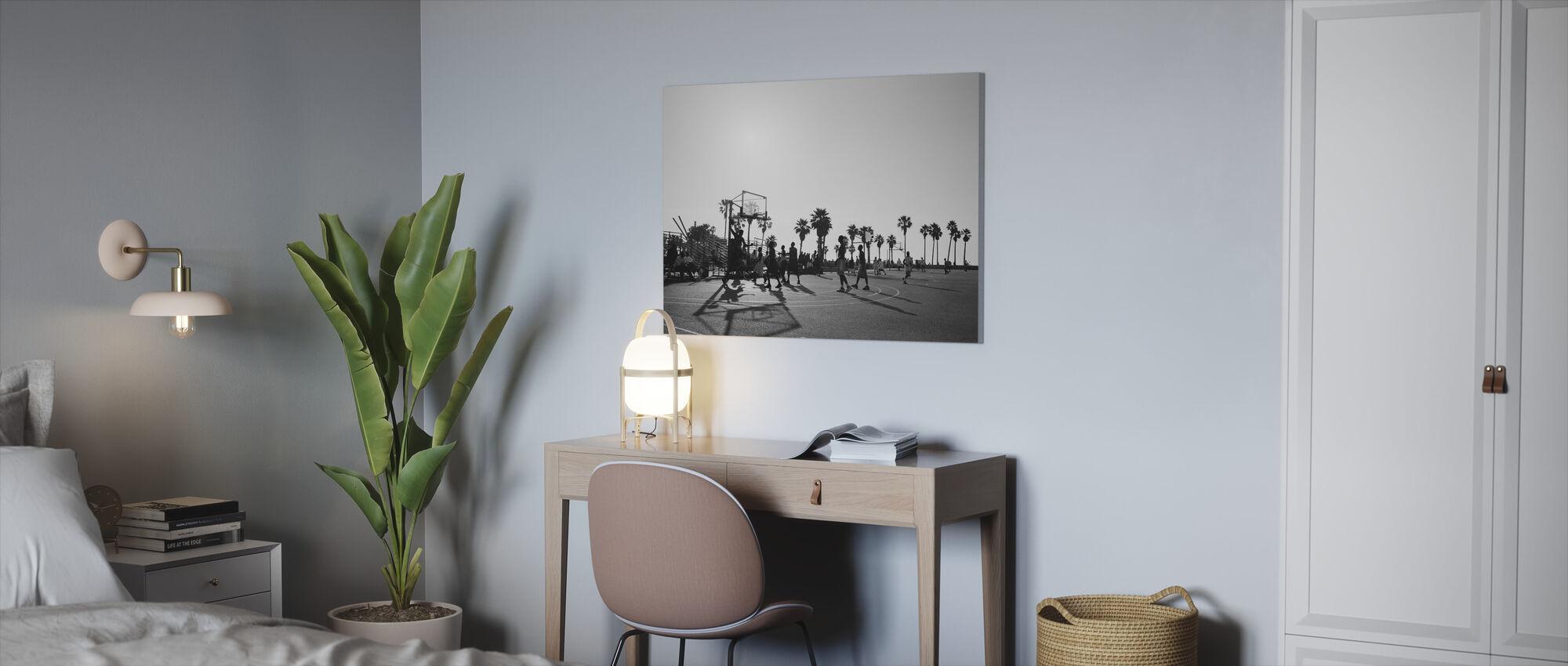 Koripallo kaduilla Los Angeles, Kalifornia - Canvastaulu - Toimisto