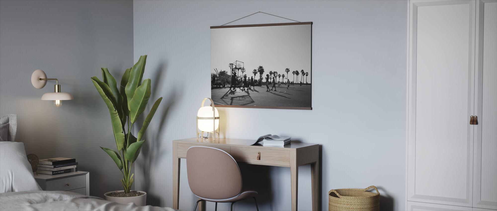 Basket på gatorna i Los Angeles, Kalifornien - Poster - Kontor