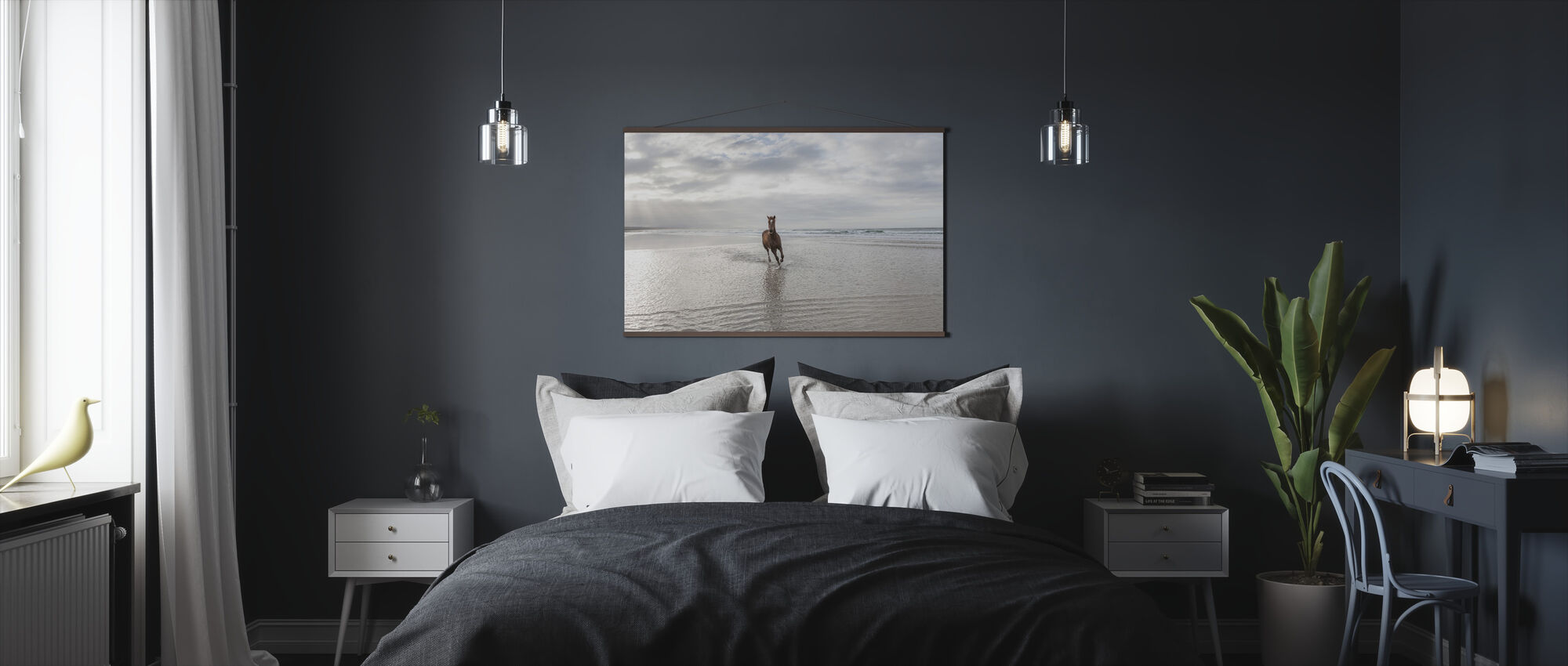 Horse on South African Beach - Poster - Bedroom