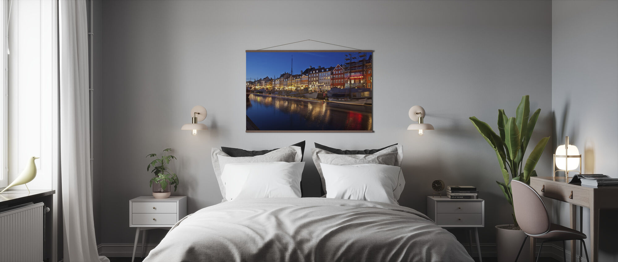 Night in Nyhavn, Copenhagen, Denmark - Poster - Bedroom