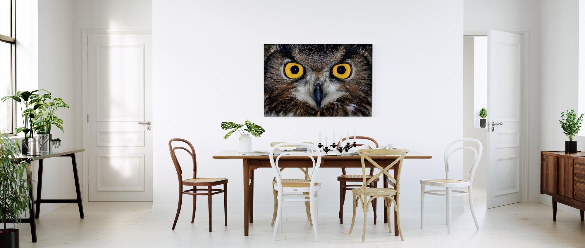 Eagle Owl Eyes - Canvas print - Kitchen