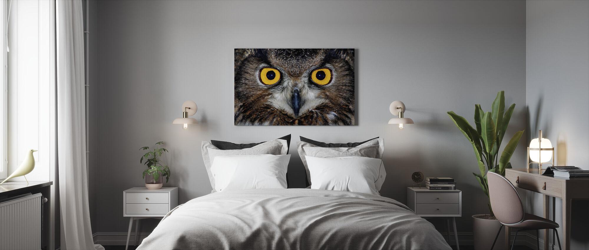 Eagle Owl Eyes - Canvas print - Bedroom